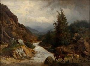Józef Jaroszyński (1835-1900), Przeprawa przez rzekę