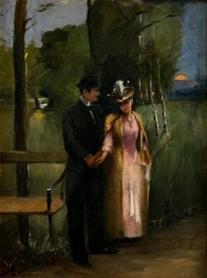 Alfons Karpiński (1875 -1961), W parku, 1890