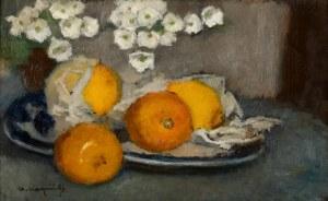 Alfons Karpiński (1875 -1961), Martwa natura z cytrynami