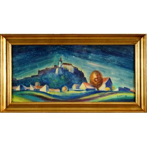 Leon Getz (1896-1971), Miasto nocą, 1964