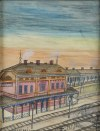Nikifor Krynicki (właśc. Epifaniusz Drowniak) (1895-1968), Stacja kolejowa