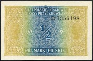 1/2 marki 1916 generał, seria B