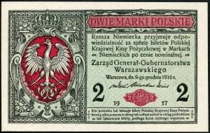 2 marki 1916 generał, seria B