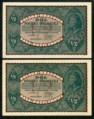 Zestaw banknotów, 1/2 marki 1920 (2 szt.)