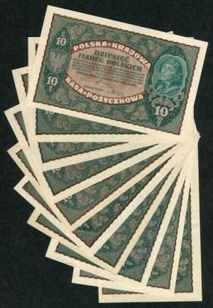 Zestaw, 10 marek 1919 (10 szt.)