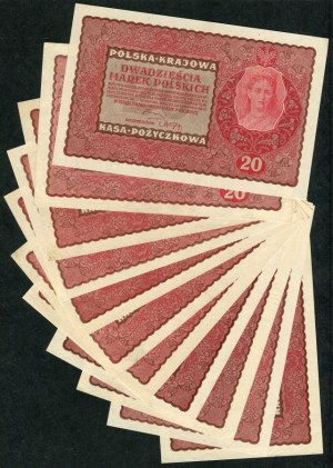 Zestaw, 20 marek 1919 (11 szt.)