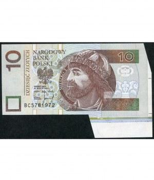 Niespotykany destrukt, 10 złotych 1994 - BC -