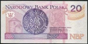 20 złotych 1994 – YB - seria zastępcza