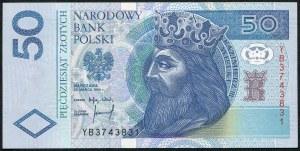 50 złotych 1994 – YB - seria zastępcza