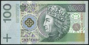 100 złotych 1994 – ZA - seria zastępcza