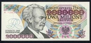 2000000 złotych 1992 z błędem – A -