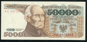 50000 złotych 1989 – AZ -