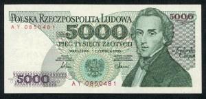 5000 złotych 1986 – AY - pierwsza seria rocznika