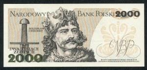 2000 złotych 1982 – BP - pierwsza seria rocznika