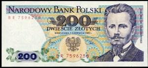 200 złotych 1982 – BR - pierwsza seria rocznika