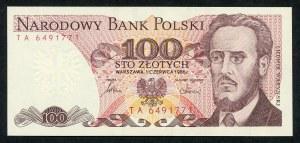 100 złotych 1986 – TA -