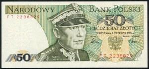 50 złotych 1986 – FT -