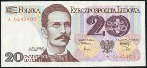20 złotych 1982 - A -