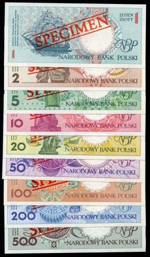 Zestaw banknotów: miasta Polskie, komplet