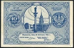 10 groszy 1924, bilet zdawkowy