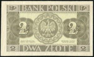 2 złote 1936 bez serii, bez numeracji
