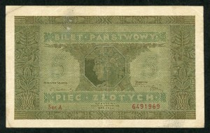 5 złotych 1926 – A -