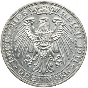 Niemcy, Prusy, 3 marki 1911, A/Berlin