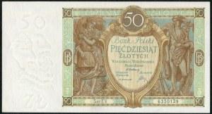 50 złotych 1929 ser. EV.