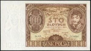 100 złotych 1934 ser. AX. dwie kreski w znaku wodnym