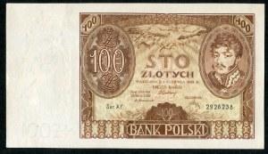 100 złotych 1932 ser. AY. +x+ w znaku wodnym