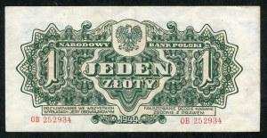 1 złoty 1944 ...owym - OB -