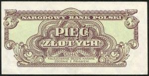 5 złotych 1944 ...owe - TX -