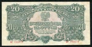 20 złotych 1944 ...owym - BC -