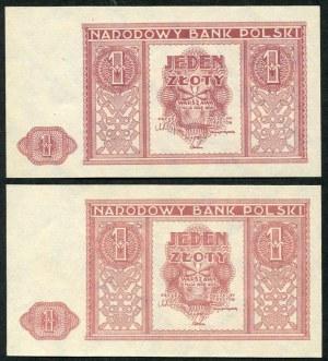 1 złoty 1946, dwa kolory