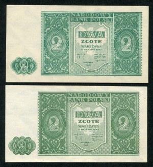 2 złote 1946, dwa kolory