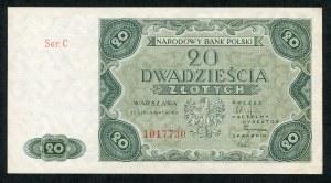 20 złotych 1947 ser. C