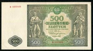500 złotych 1946 - B -