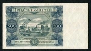 500 złotych 1947 seria M2