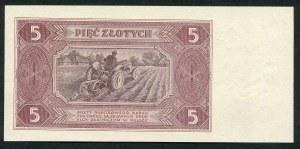 5 złotych 1948 - H -