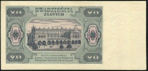 20 złotych 1948 - AU -