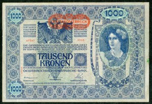 Zestaw banknotów, Austro-Węgry (6szt.)