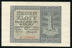 1 złoty 1940 - A -