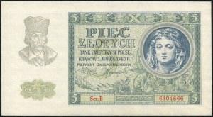 5 złotych 1940 ser. B