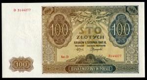 Zestaw banknotów, 100 złotych 1941 - D - kolejne numery