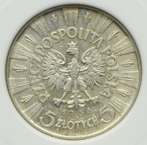 5 złotych 1936, Józef Piłsudski