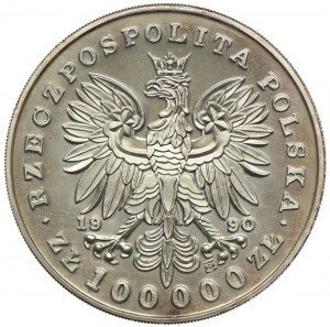100.000 złotych 1990, Józef Piłsudski, Mały Tryptyk