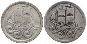 Zestaw, Wolne Miasto Gdańsk, 1/2 guldena 1923, 1927 (2szt.)