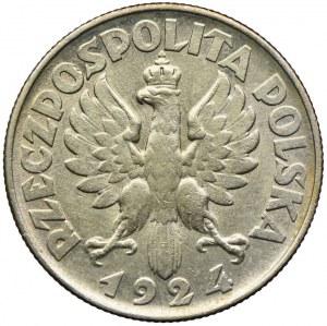 2 złote 1924, Kobieta i kłosy, Filadelfia - odwrotka