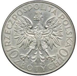 10 złotych 1932 ze znakiem, Głowa Kobiety