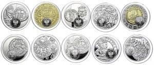 Zestaw monet, 20 złotych 2015-2020